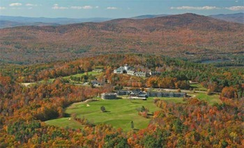 Aerial view of Steele Hill Resort.
