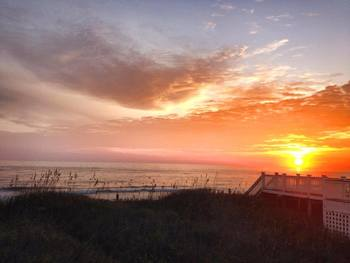 Sunset at Beach Realty & Construction.