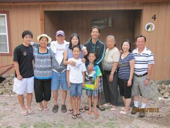 Family at Black Hills Cabins & Motel at Quail's Crossing.