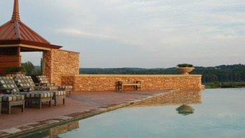 Pool view at Nemacolin Woodlands Resort.