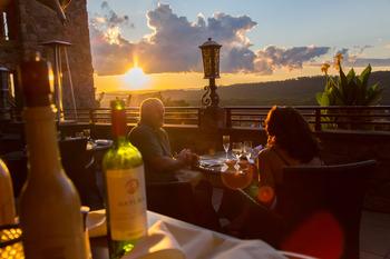 Romantic dining at Crystal Springs Resort.