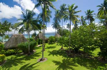 Exterior view of Qamea Resort & Spa Fiji.