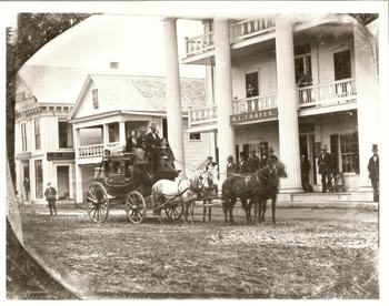 Historical photo of Thayers Inn.