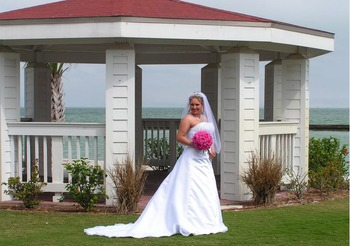 Bride at The Lighthouse Inn at Aransas Bay.