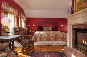 Guest room at The Inn at Weston.