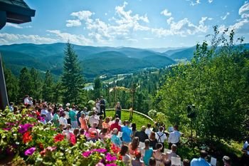 Wedding at SkyRun Vacation Rentals - Nederland, Colorado.