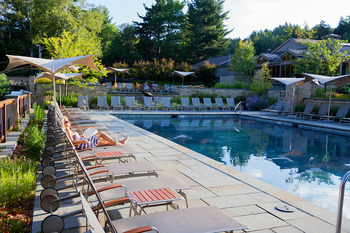 Outdoor pool at Topnotch Resort.