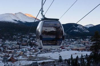 Gondola over the mountains at Grand Timber Lodge.