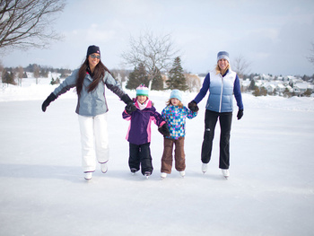 Family Skating at Grand Traverse Resort