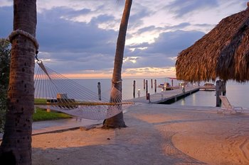 Hammock on the beach at Hampton Inn & Suites Islamorada.