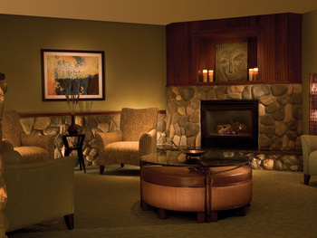 Spa lounge at Grand Traverse Resort.
