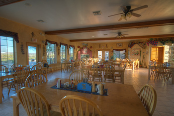 Dining at Stagecoach Trails Guest Ranch.