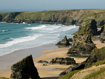 View of Cornwall's stunning coastline.