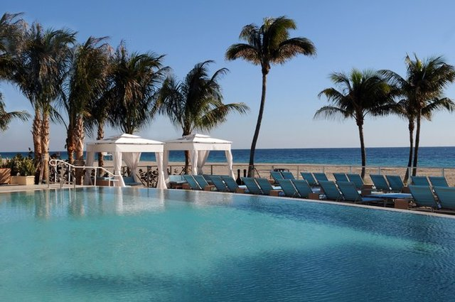 Outdoor pool at Sheraton Fort Lauderdale Beach Hotel.