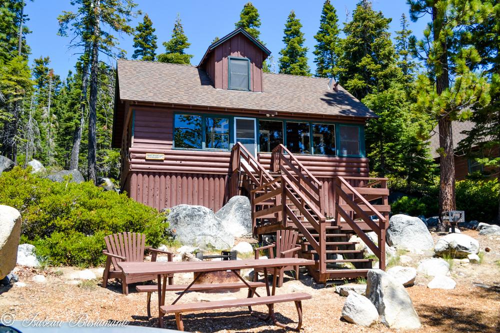 Cabin exterior at Meeks Bay Resort & Marina.