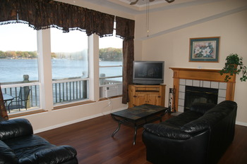 Unit interior at Lakeview Resort.