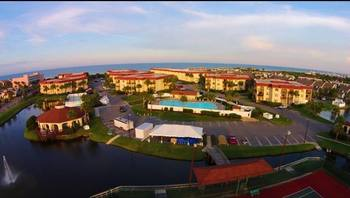 Aerial view of St. Augustine Ocean & Racquet Resort.