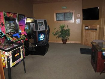 Game room at Olympic Village Inn.