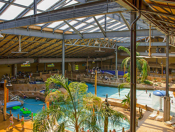 Indoor waterpark at Split Rock Resort & Golf Club.