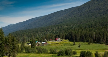 Hidden in the Louis Creek Valley, surrounded by mountain - this is Tod Mountain Guest Ranch.