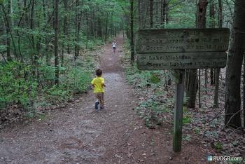 Hiking at Sleeping Bear Resort.