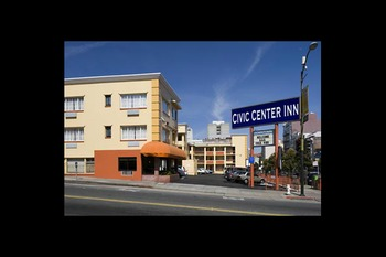 Exterior view of Civic Center Inn.