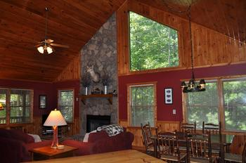 Cabin interior at Cuddle Up Cabin Rentals.
