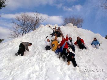 Winter at Woodloch Resort.