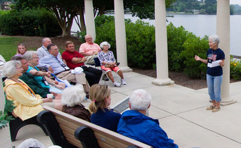 Outdoor meeting at Terrace Hotel Lake Junaluska.