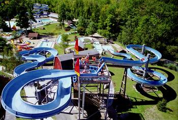 Whale's Tale Water Park near Riverbank Motel & Cabins.