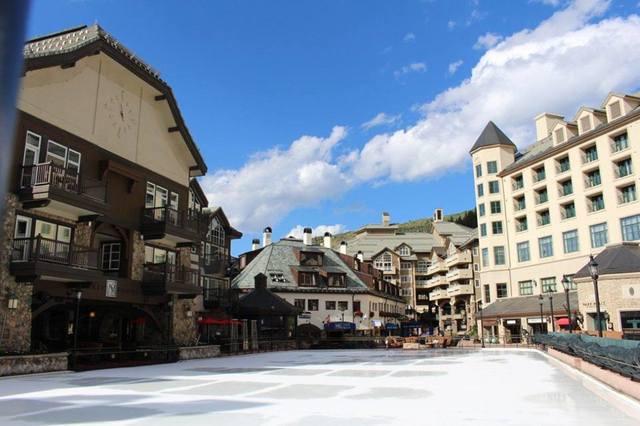 Ice skating at The Osprey at Beaver Creek, A Rock Resort.