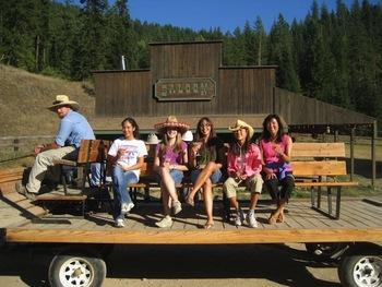 Wagon rides at Red Horse Mountain Ranch.