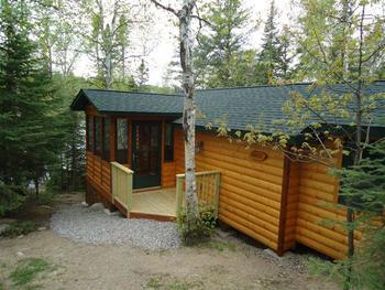 Cabin exterior at Fenske Lake Cabins.