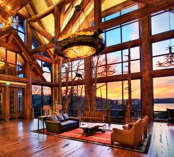 Lobby at Big Cedar Lodge.