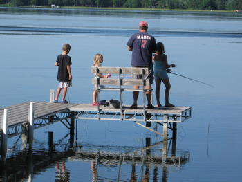 Dock fishing with Dad.