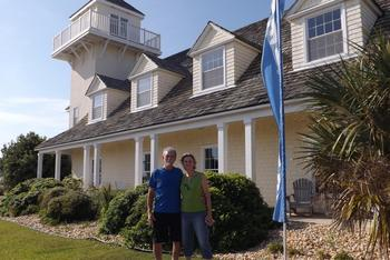 Couple at The Villas of Hatteras Landing.