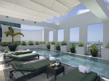 Penthouse pool at The Setai Miami.