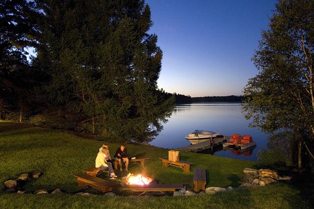 Campfire at Half Moon Trail Resort.