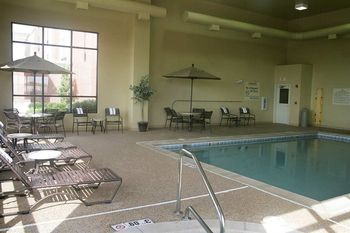 Indoor pool at Hampton Inn Stow.