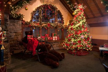 Christmas time at The Inn at Pocono Manor.