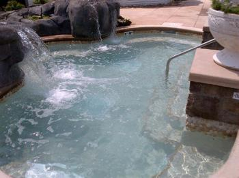 Hot tub at The Homestead.