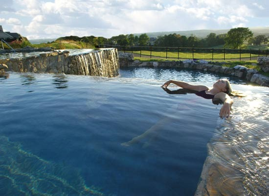 Infinity Pool at Crystal Springs Resort