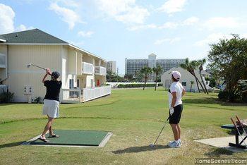 Golfing at Sandpiper Cove.