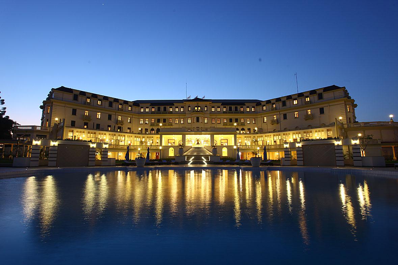 Exterior view of Polana Hotel.