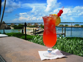 Enjoy a drink at Hawks Cay Resort.