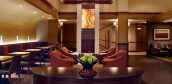 Lounge in style at the Hyatt Place Charlotte Airport/Tyvola Road.