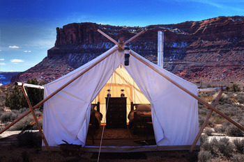 Exterior of Tent at Moab Under Canvas