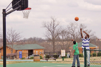 Basketball court at Westgate Branson Woods.