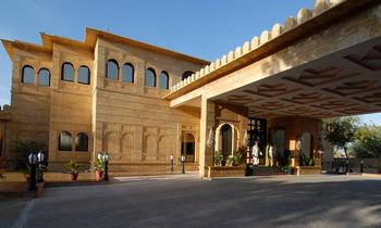 Exterior view of Gorbandh Palace.
