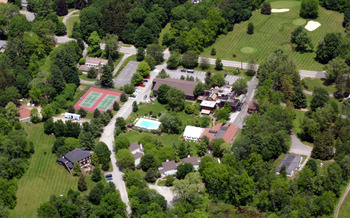 Aerial view of Interlaken Resort & Conference Center.